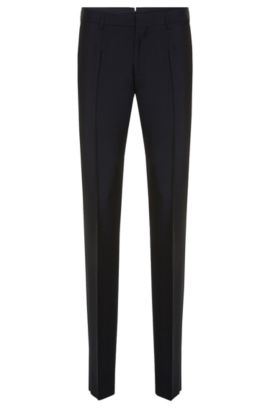 Slim-fit Tailored trousers in a new wool blend with mohair: 'T-Gavril', Dark Blue