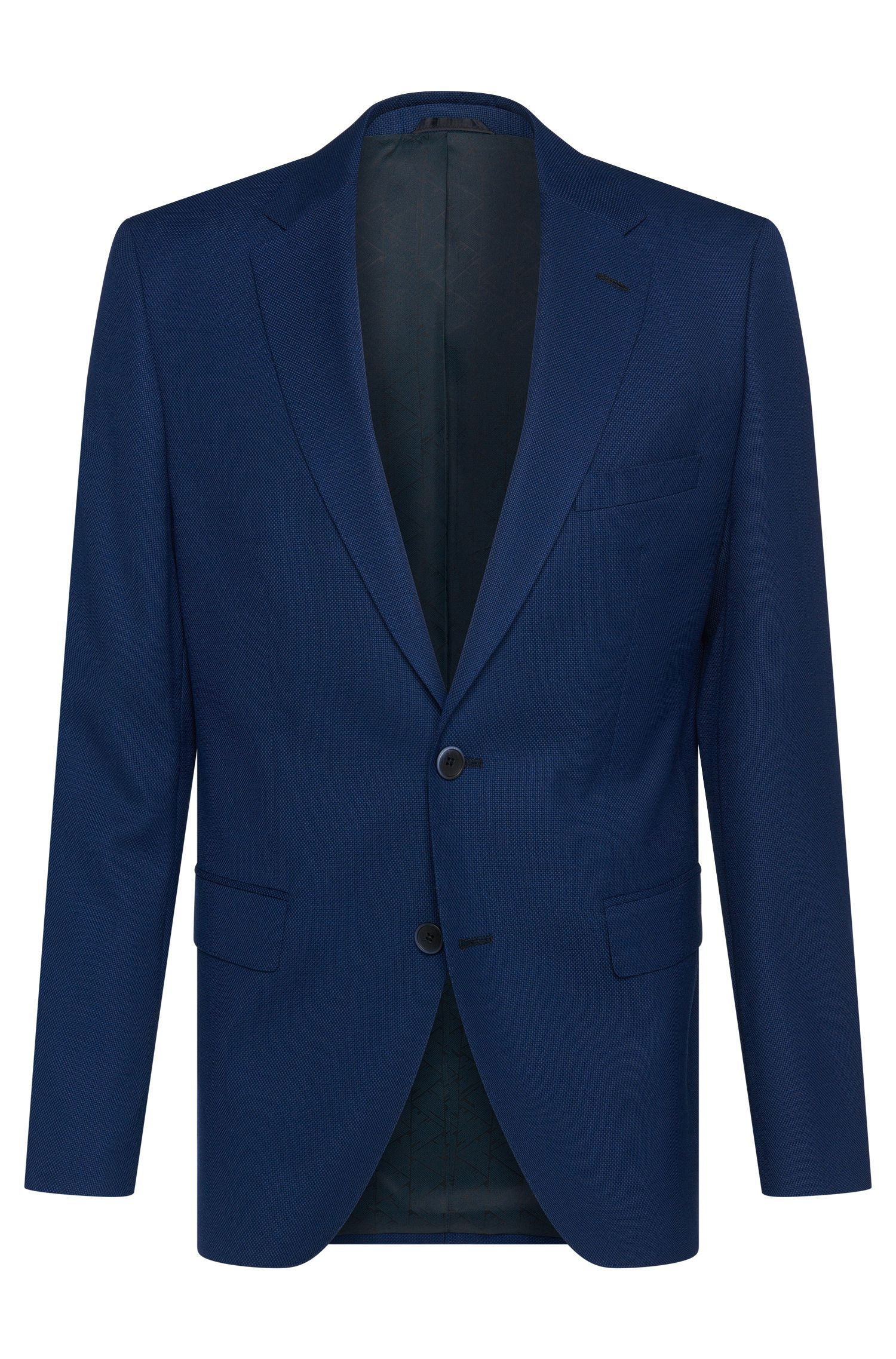 Finely textured regular-fit jacket in new wool: 'Jewels1'