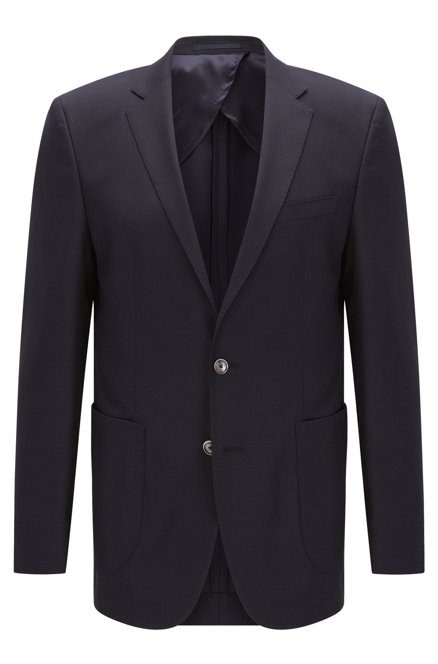 Slim-fit virgin wool jacket