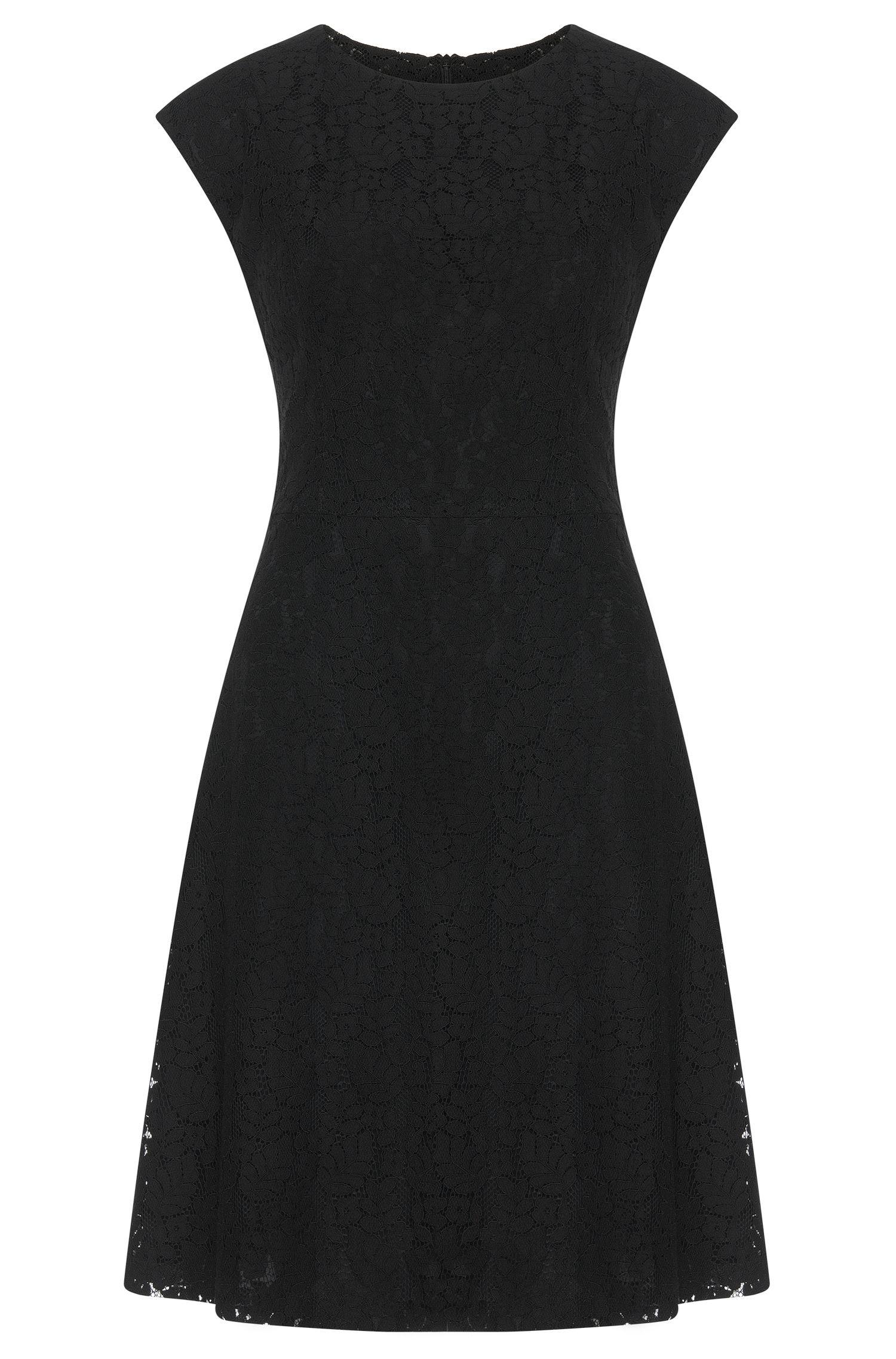 Kanten jurk van een katoenmix met viscose: 'Kathie-1'