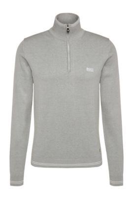 Jersey slim fit en mezcla de algodón: 'Zime_S17', Gris claro