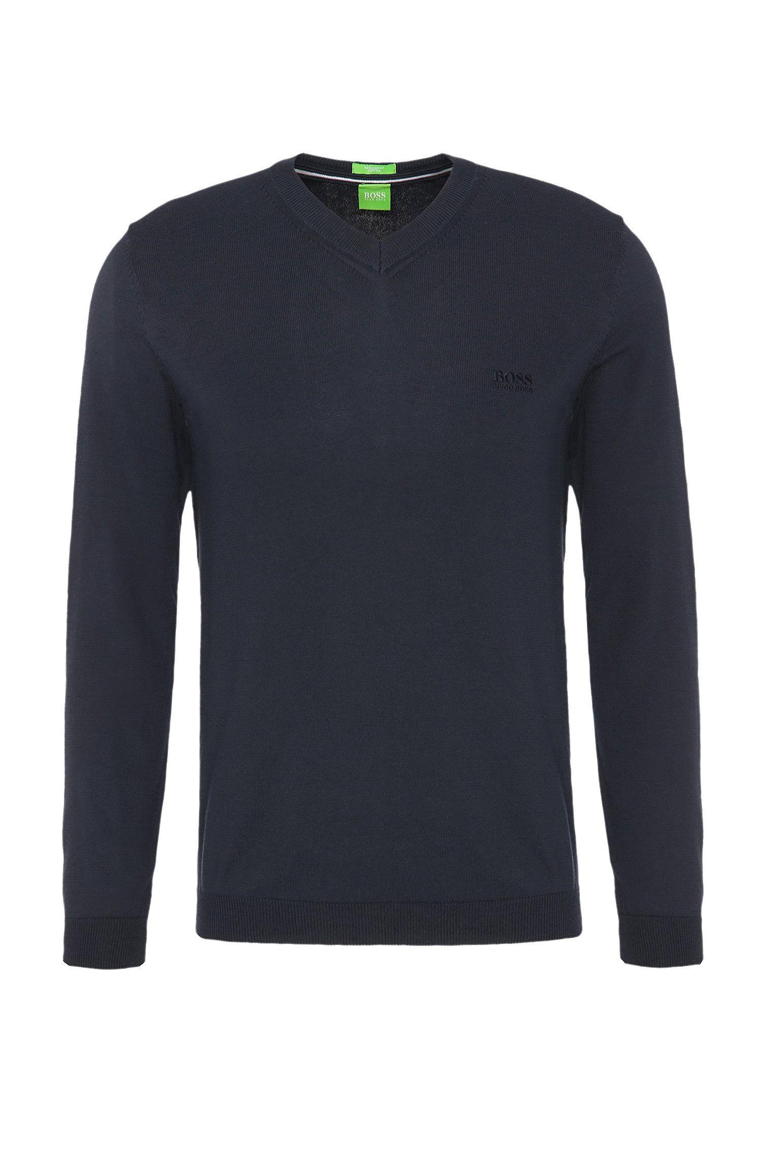 Regular-fit trui van gebreide katoen: 'C-Carlton_02'