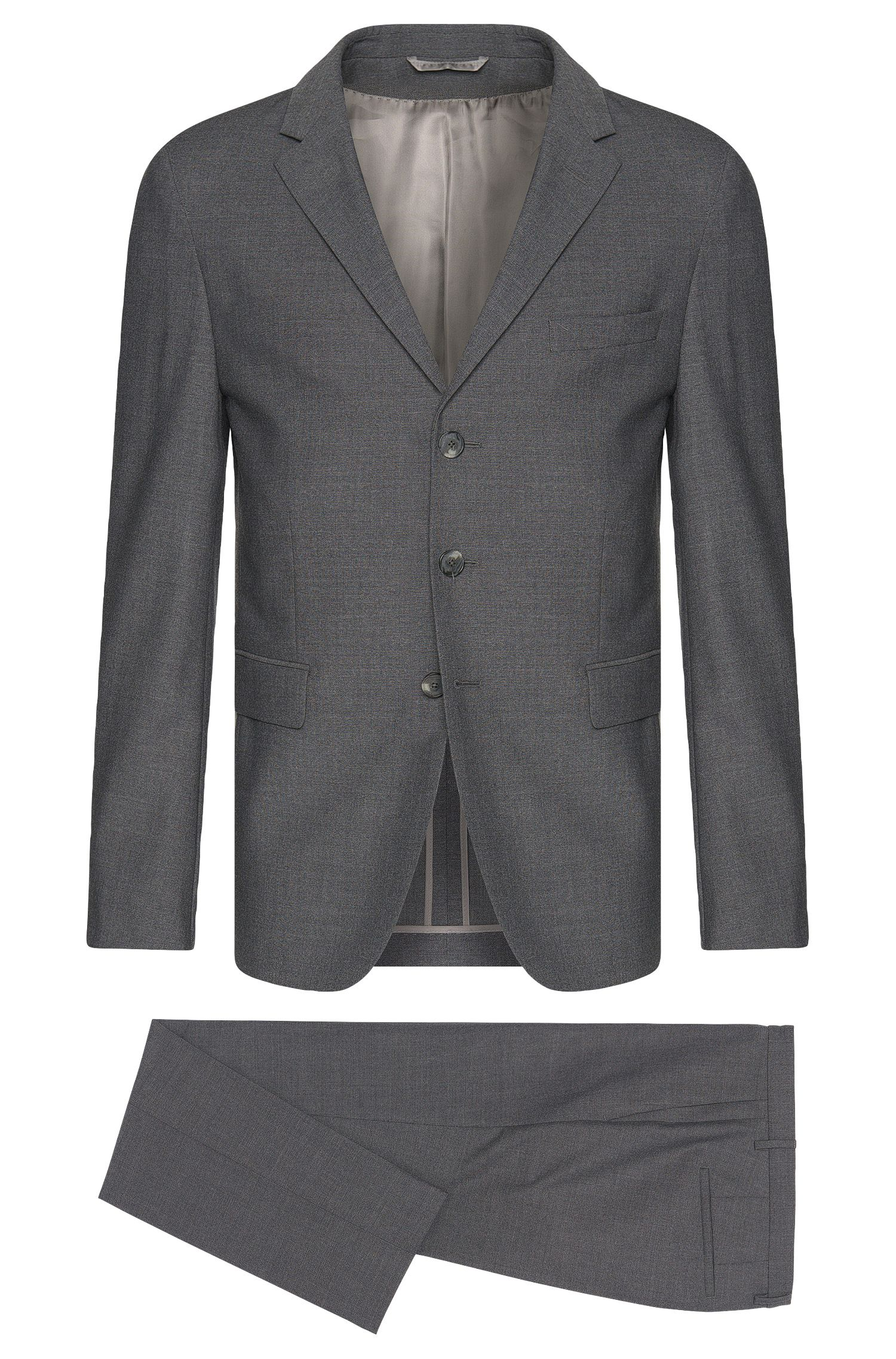 Slim-fit Tailored suit in new-wool blend with mohair: 'T-Nevil/Batwin'