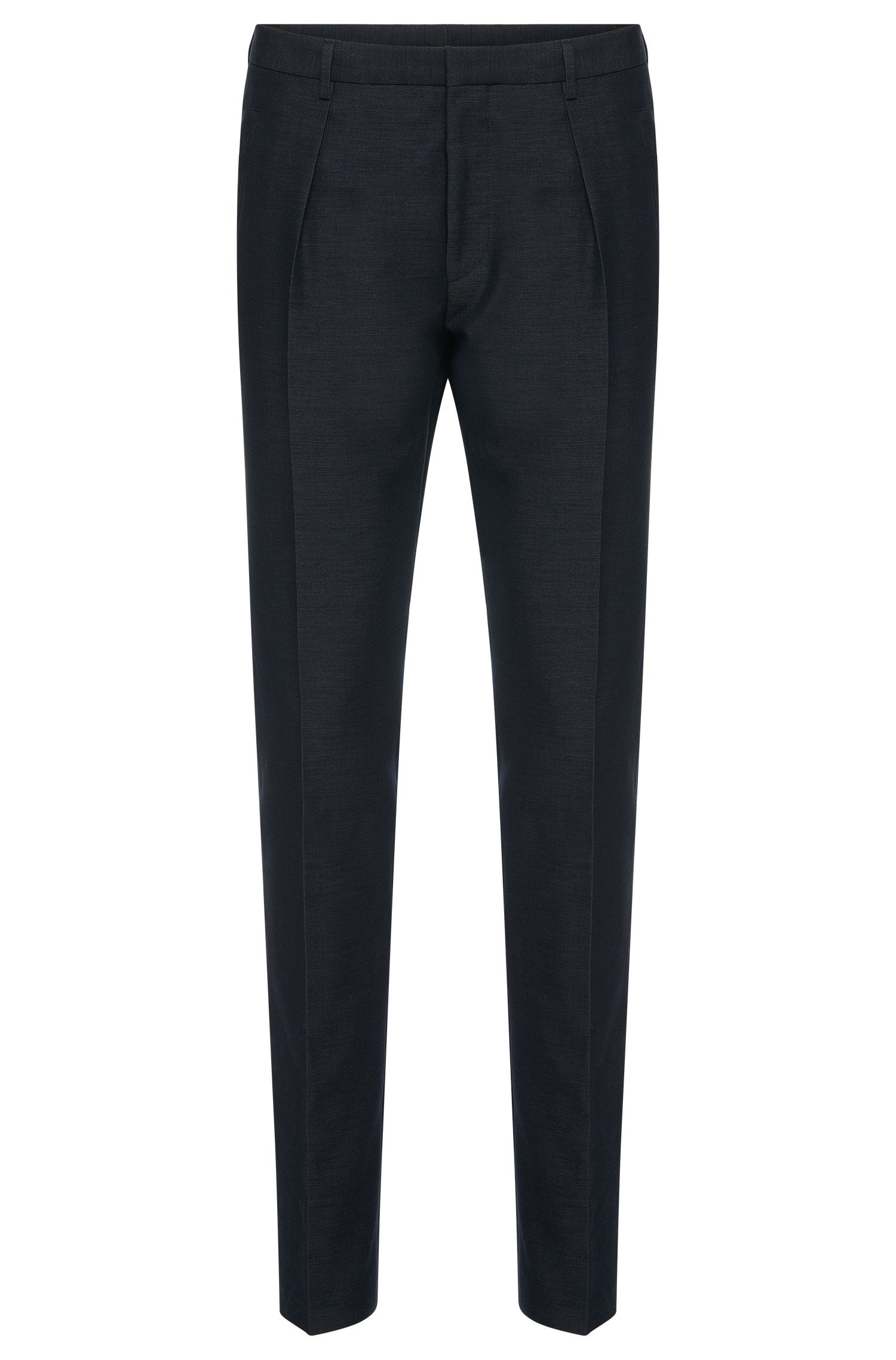 Slim-fit trousers in cotton blend with silk: 'Per'