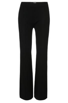 Gebreide broek van scheerwol: 'Falali', Zwart