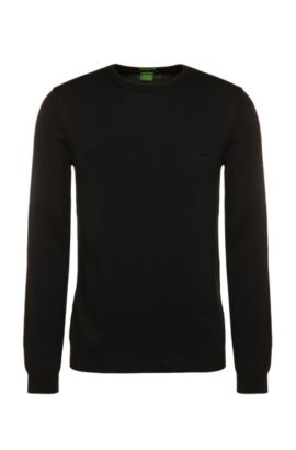 Pull Regular Fit en coton : « C-Caspar_02 », Noir
