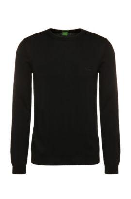 Regular-fit trui van katoen: 'C-Caspar_02', Zwart