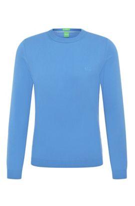 Regular-fit sweater in cotton: 'C-Caspar_02', Blue