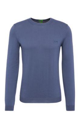Regular-Fit Pullover aus Baumwolle: ´C-Caspar_02`, Hellblau
