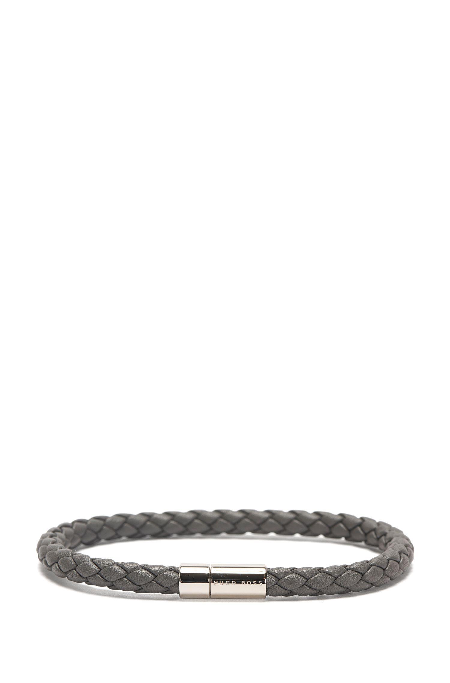 Bracelet en cuir à l'aspect tressé: «Balthazar»