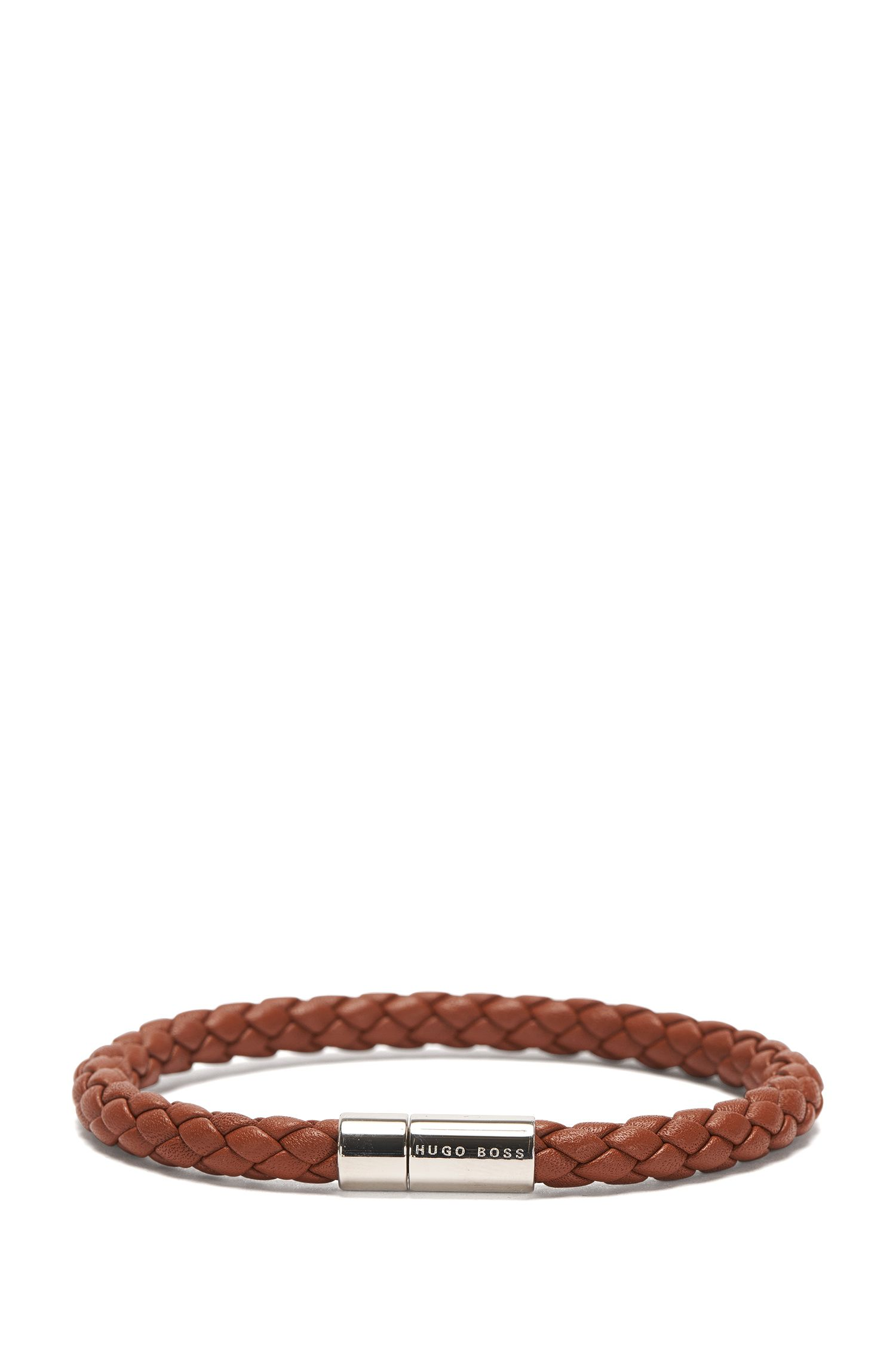 Armband aus Leder in Flecht-Optik: 'Balthazar'