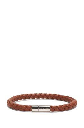 Armband aus Leder in Flecht-Optik: 'Balthazar', Dunkelbraun