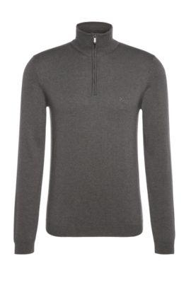 Maglione a collo alto in misto lana vergine con cotone:, Grigio