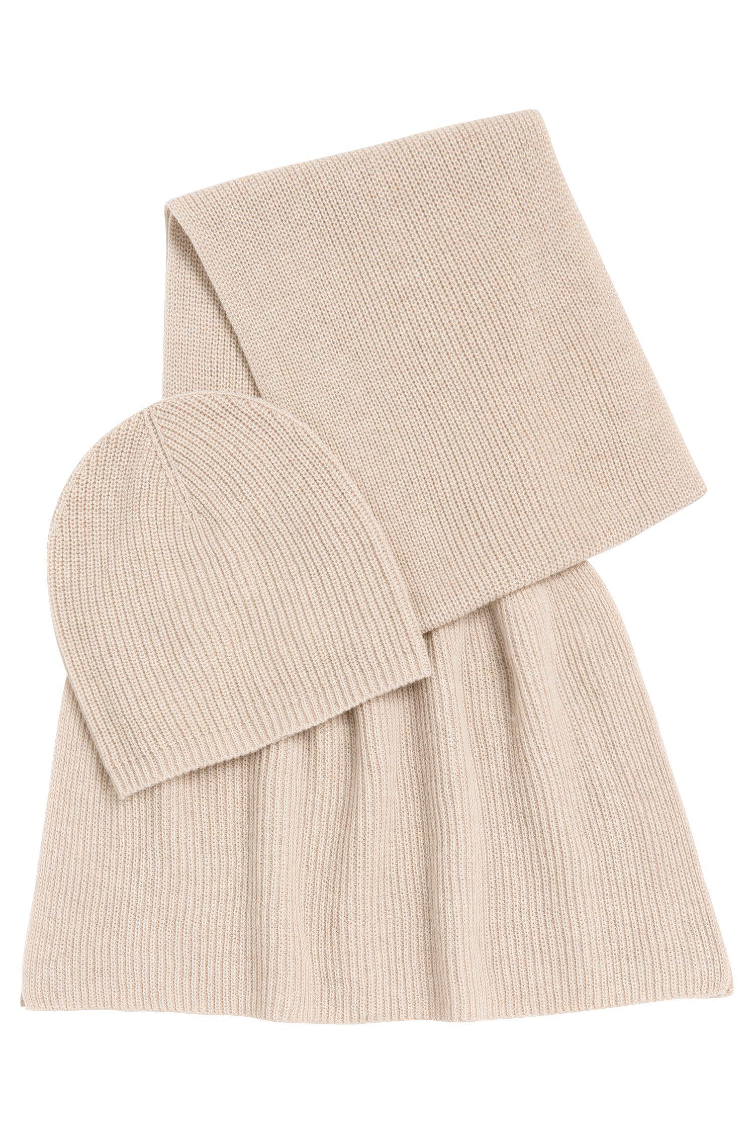 Set met sjaal en muts van een scheerwolmix met kasjmier: 'Layla_Giftset'