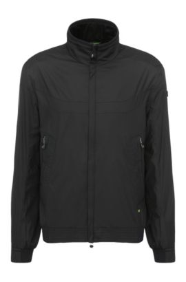 Outdoor jacket in material blend in bomber jacket style: 'Jakes 2', Black