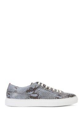 Sneakers aus Leder mit Python-Prägung: 'Corynna-Sl', Hellblau