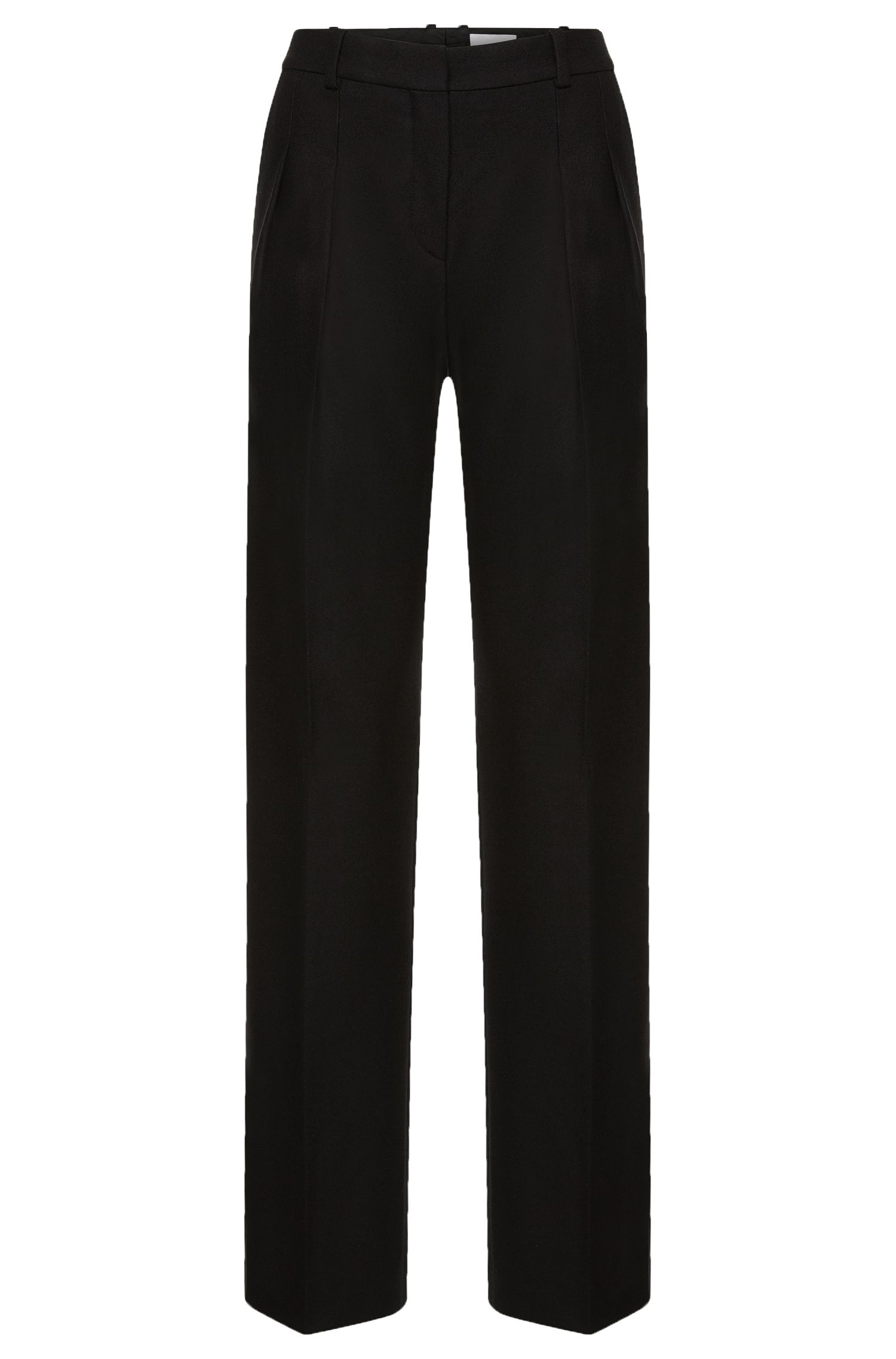 Pantalon à pinces Runway Edition en laine vierge mélangée à du cachemire: «FS_Temina»