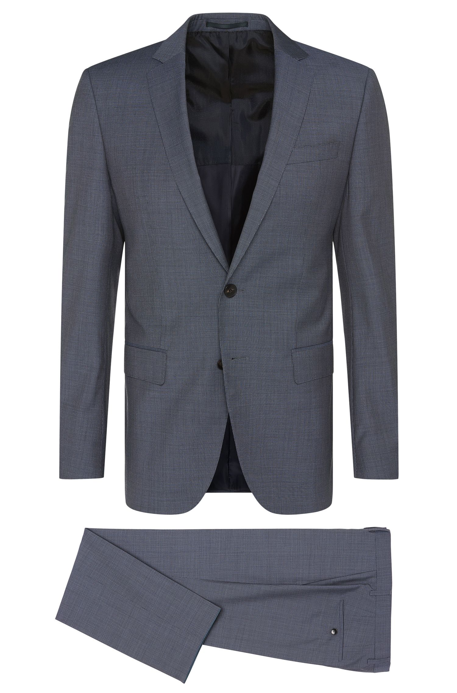 Finely textured slim-fit suit in new wool: 'Huge5/Genius3'