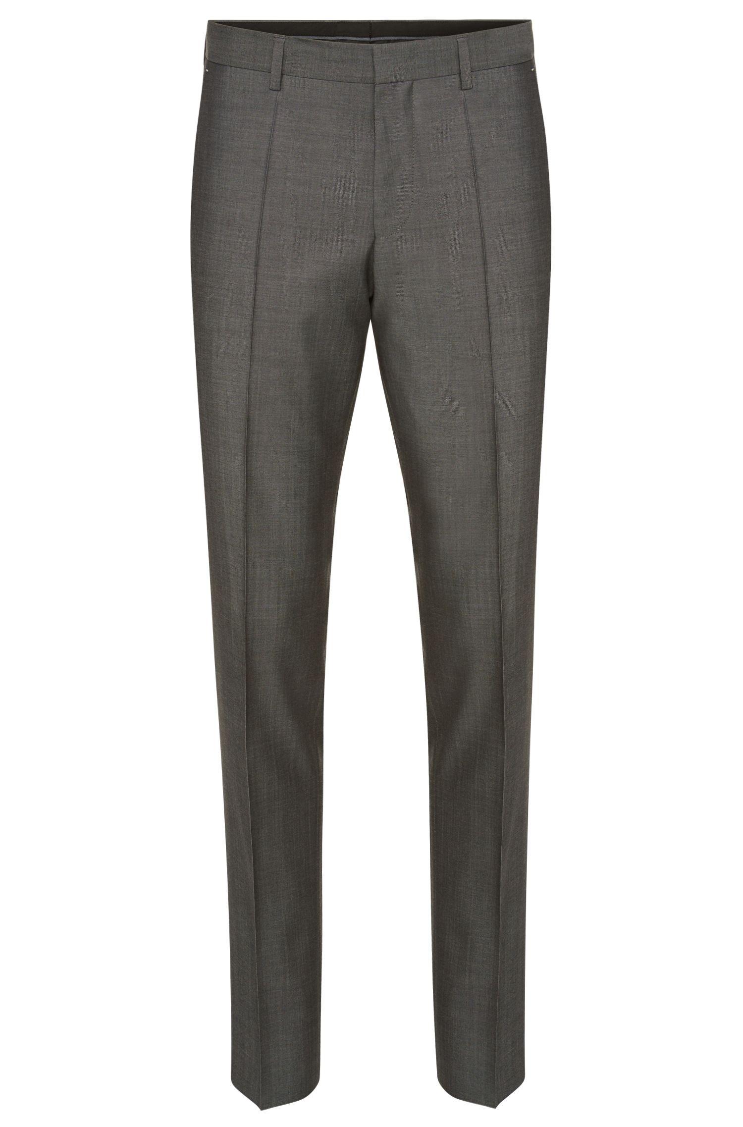 Pantalón slim fit con estampado sofisticado en lana virgen: 'Genesis2'