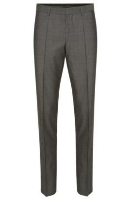 Fein gemusterte Slim-Fit Hose aus Schurwolle: 'Genesis2', Grau