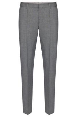 Slim-fit broek van een scheerwolmix met kasjmier: 'Genesis2', Grijs