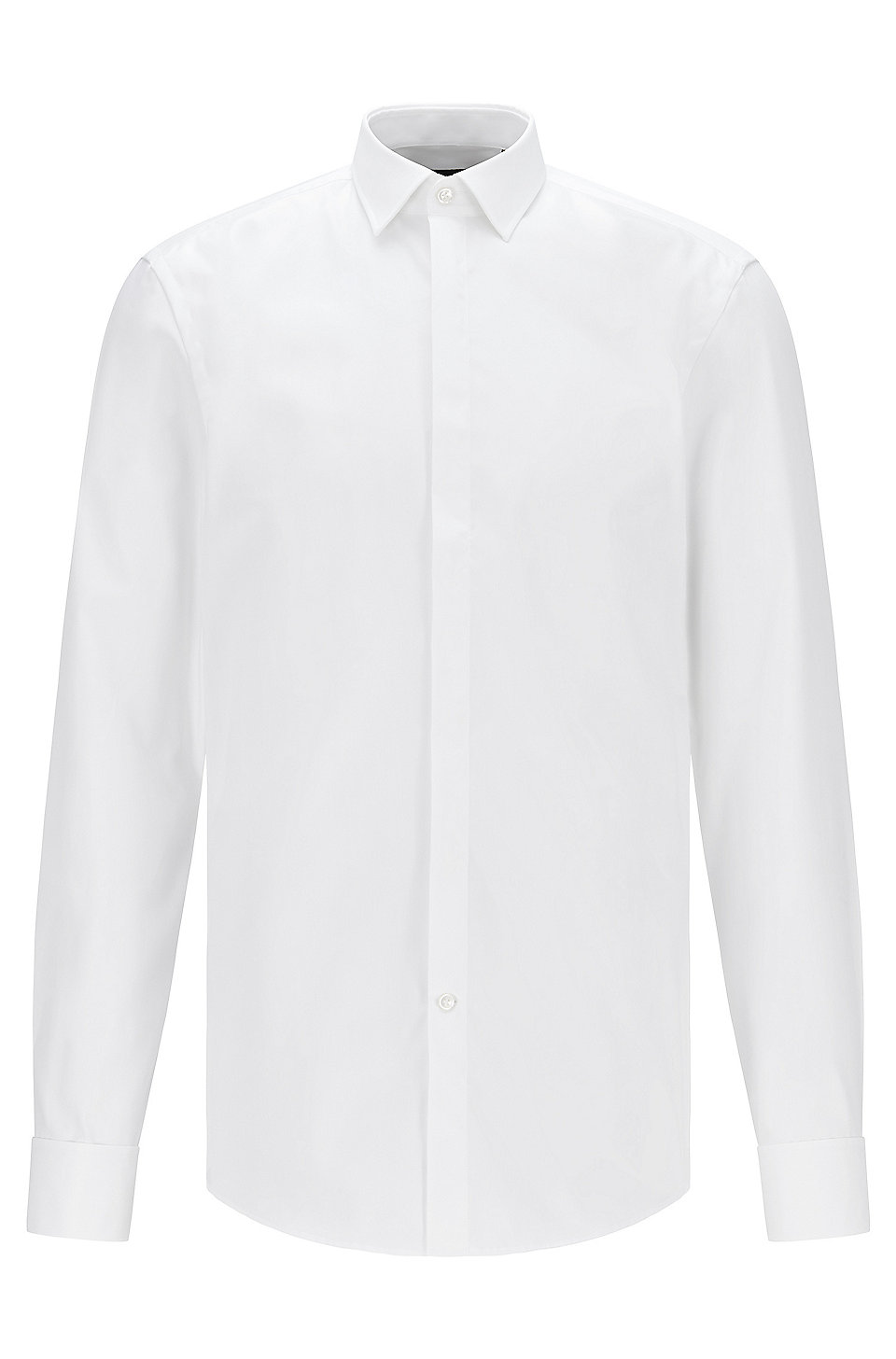 817a219d4 BOSS - Slim-fit cotton business shirt with double cuffs