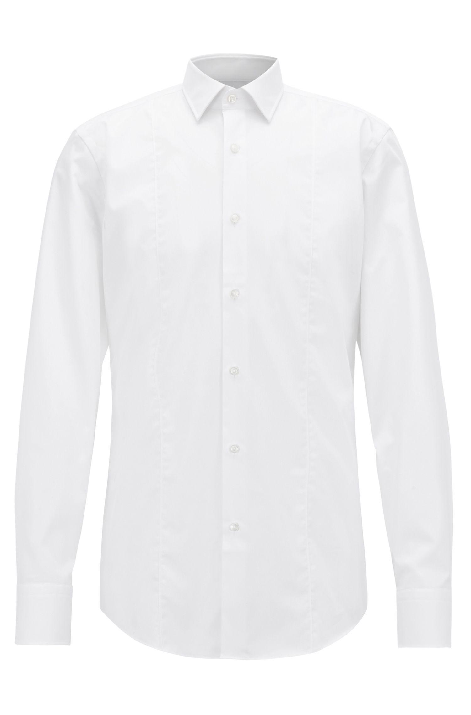 Slim-fit zakelijk overhemd van katoenen popeline