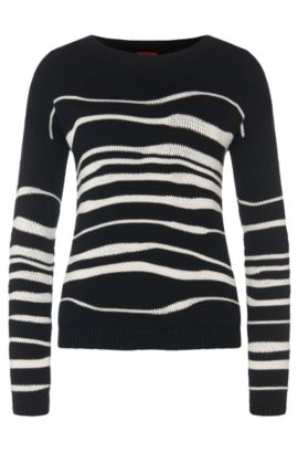 Patterned sweater in cotton blend with viscose and silk: 'Samica', Patterned