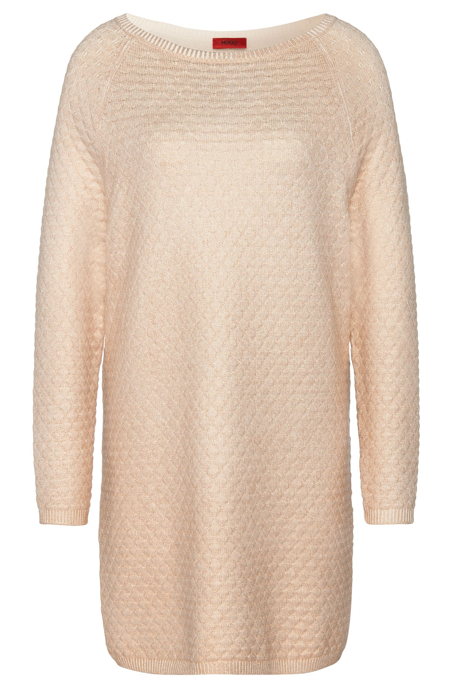 Long sweater in cotton blend with viscose and silk: 'Saskiara'
