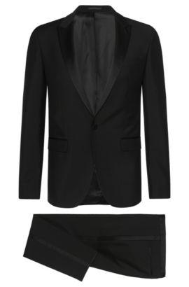 Veste de smoking Extra Slim Fit en laine vierge mélangée à teneur en mohair:  «Reysen/Weever», Noir
