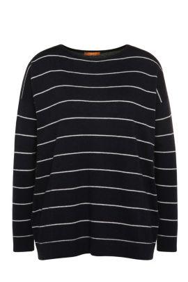 Jersey a rayas relaxed fit en mezcla de materiales con lana virgen y alpaca: 'Wendelly', Fantasía