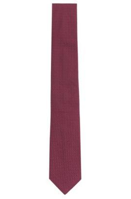 Corbata de seda con textura: 'Tie 6 cm', Lila