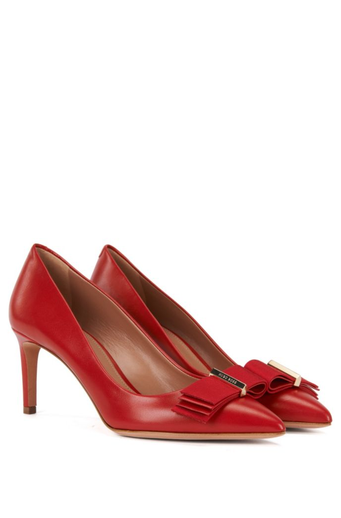Leather pumps with decorative bow: 'Wave Pumps 70-N'