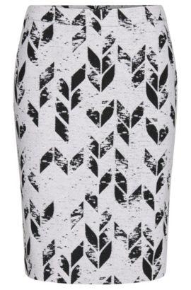 Jacquard skirt in new-wool blend: 'Vimena', Patterned