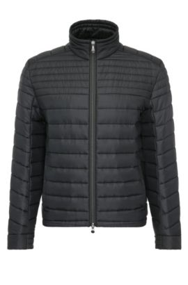 Lightweight regular-fit quilted jacket in a material blend: 'Jeon 2', Black