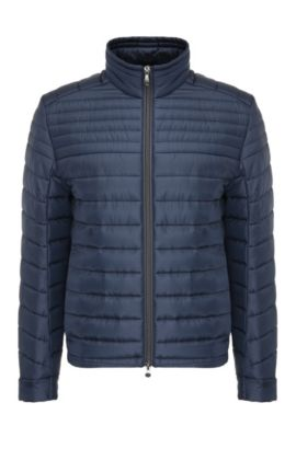 Leichte Regular-Fit Steppjacke aus Material-Mix: ´Jeon 2`, Dunkelblau