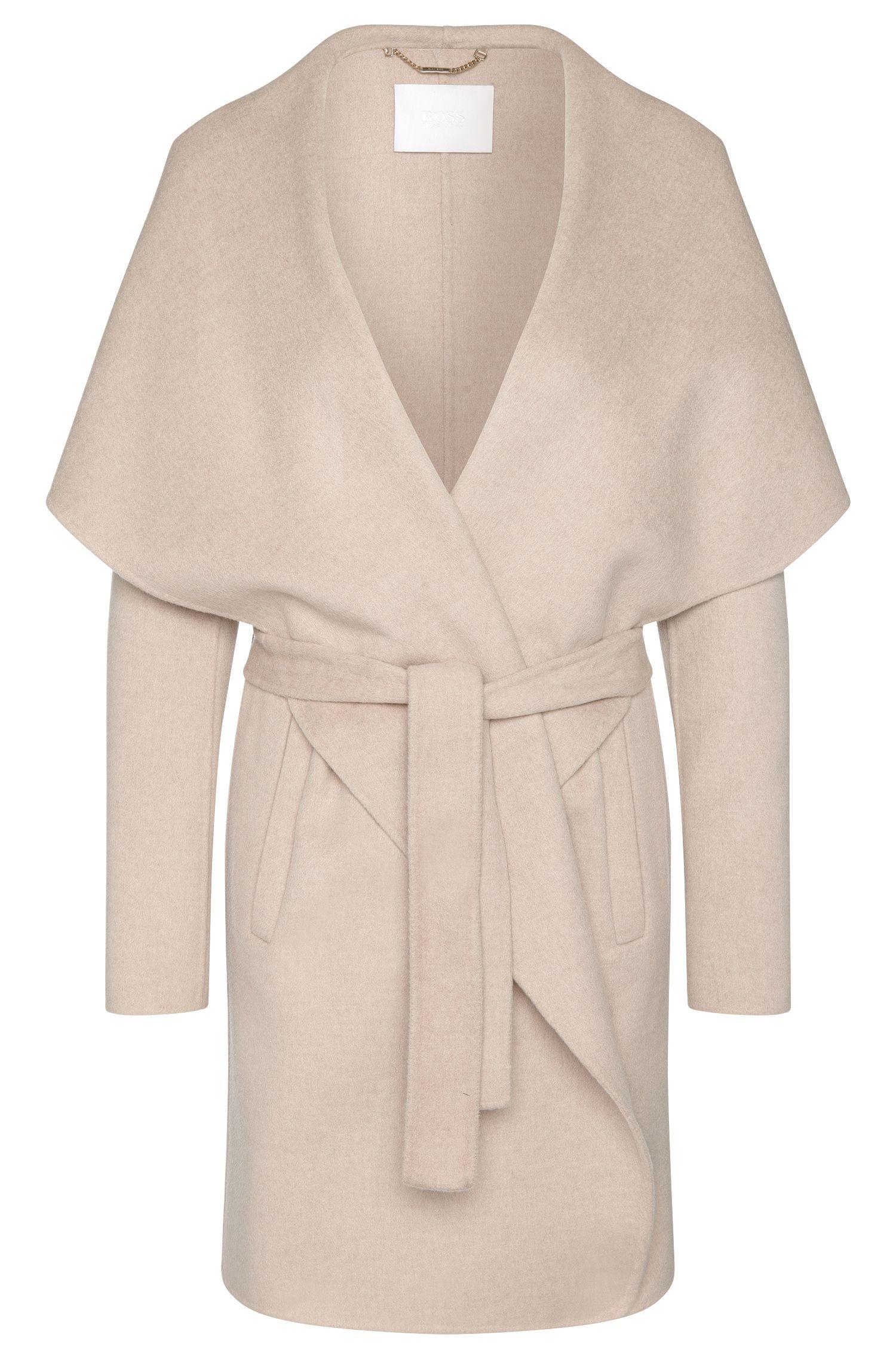 Mantel aus reiner Schurwolle mit breitem Schalkragen: 'Catifa'