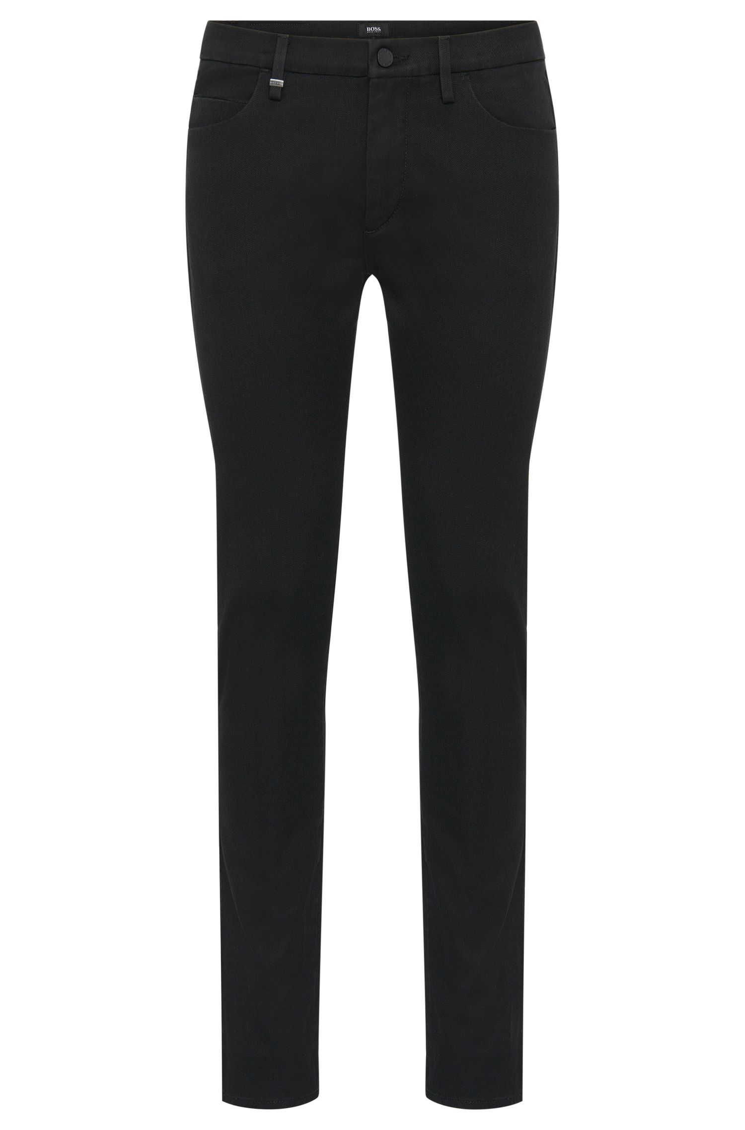Slim-fit jeans in stretch cotton with contrasting trim: 'Charleston3-1'