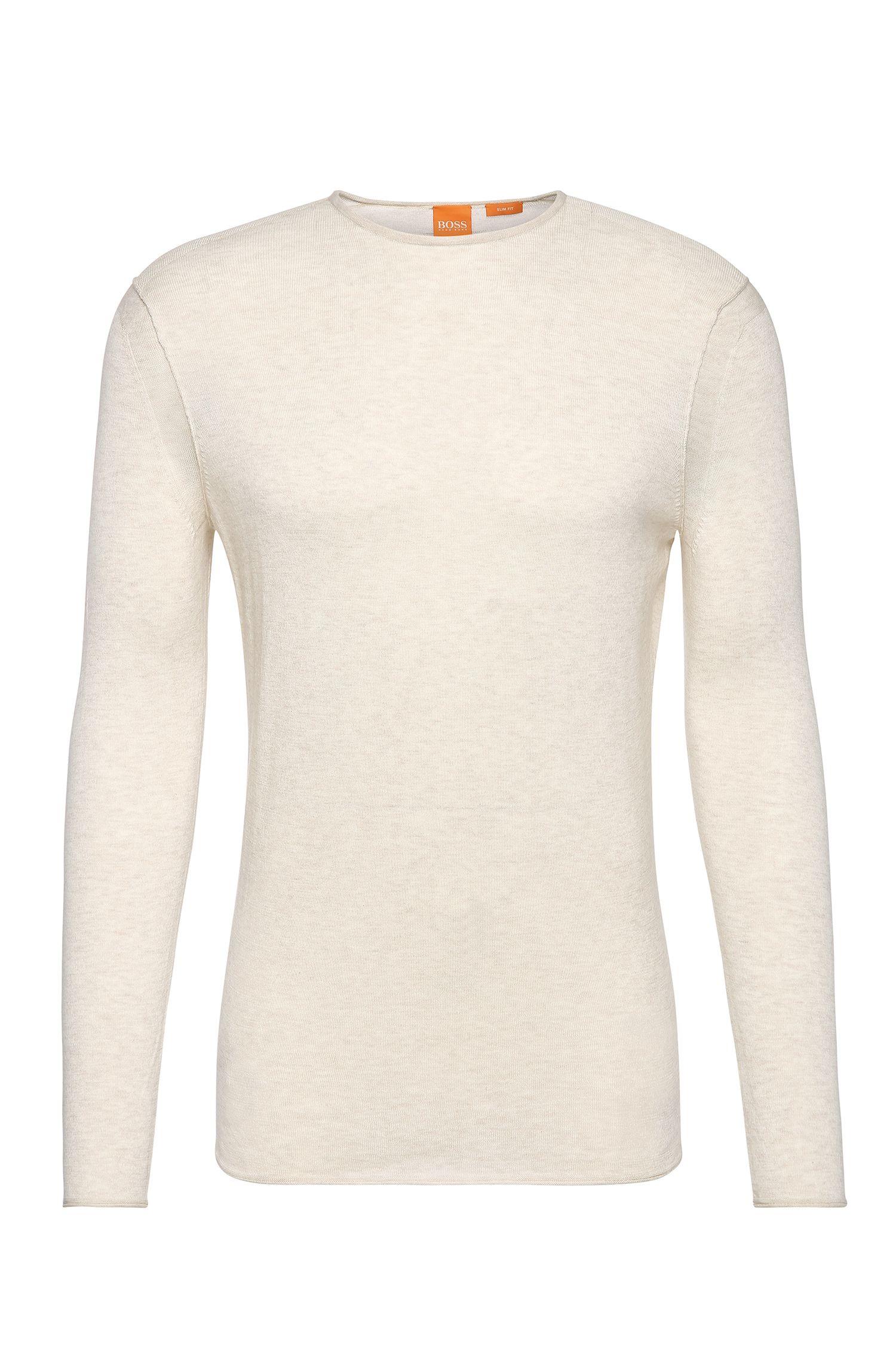 Pullover slim fit in maglia di cotone: 'Kwamero'