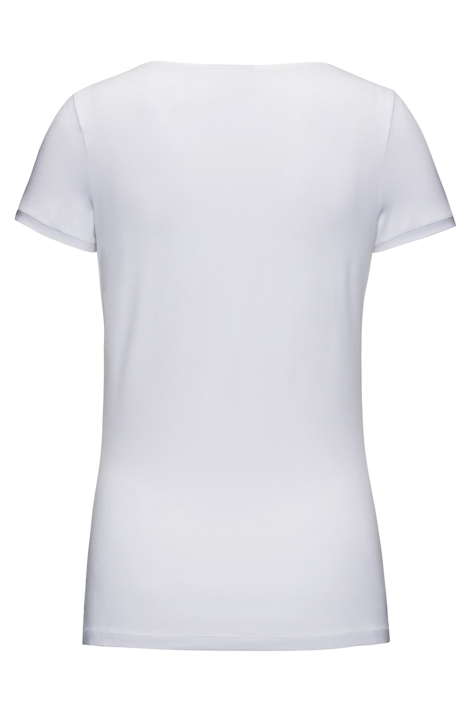 Slim-fit T-shirt van stretchmateriaal