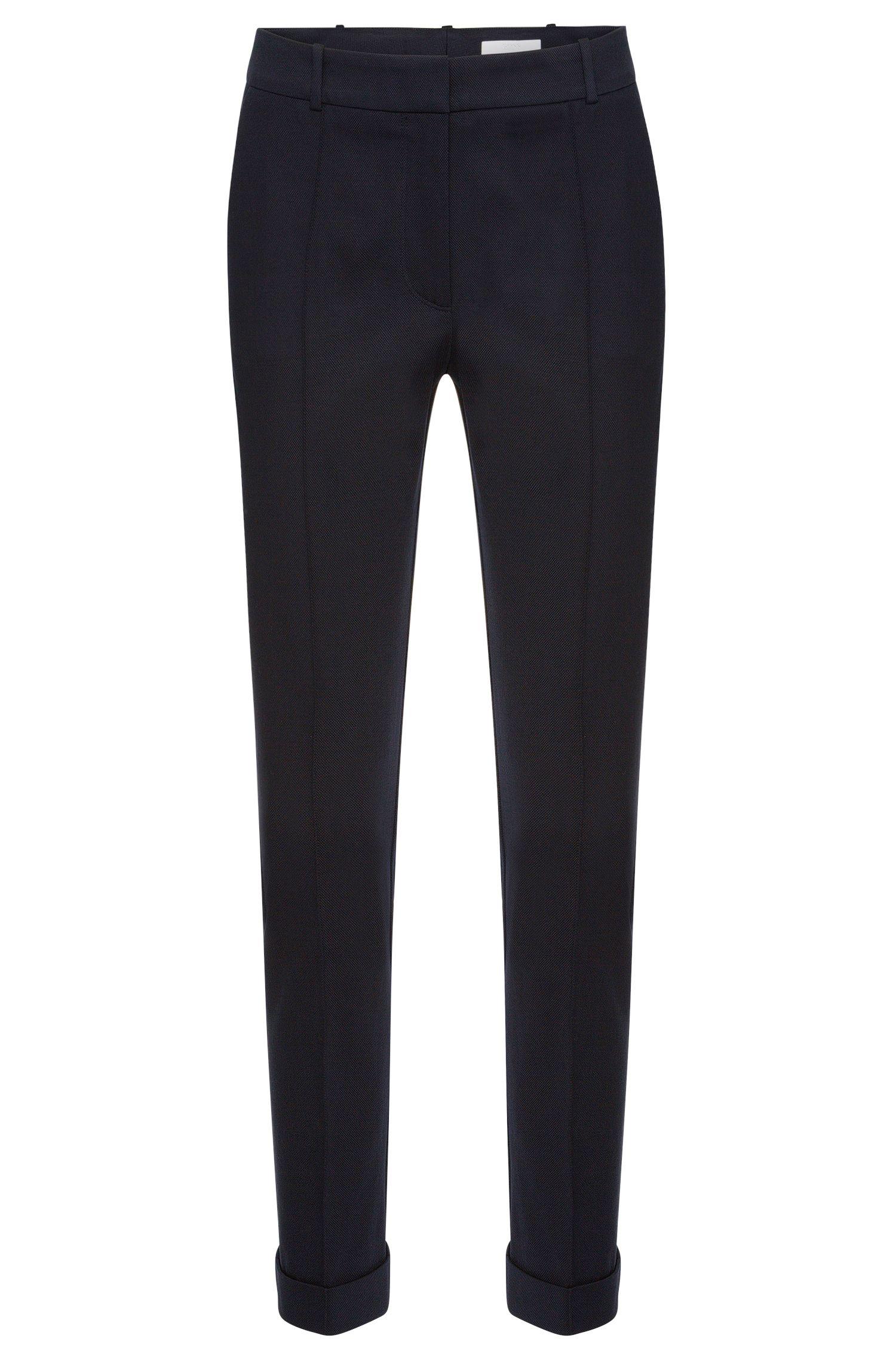 Pantalon à plis marqués Regular Fit en coton stretch: «Acrila»