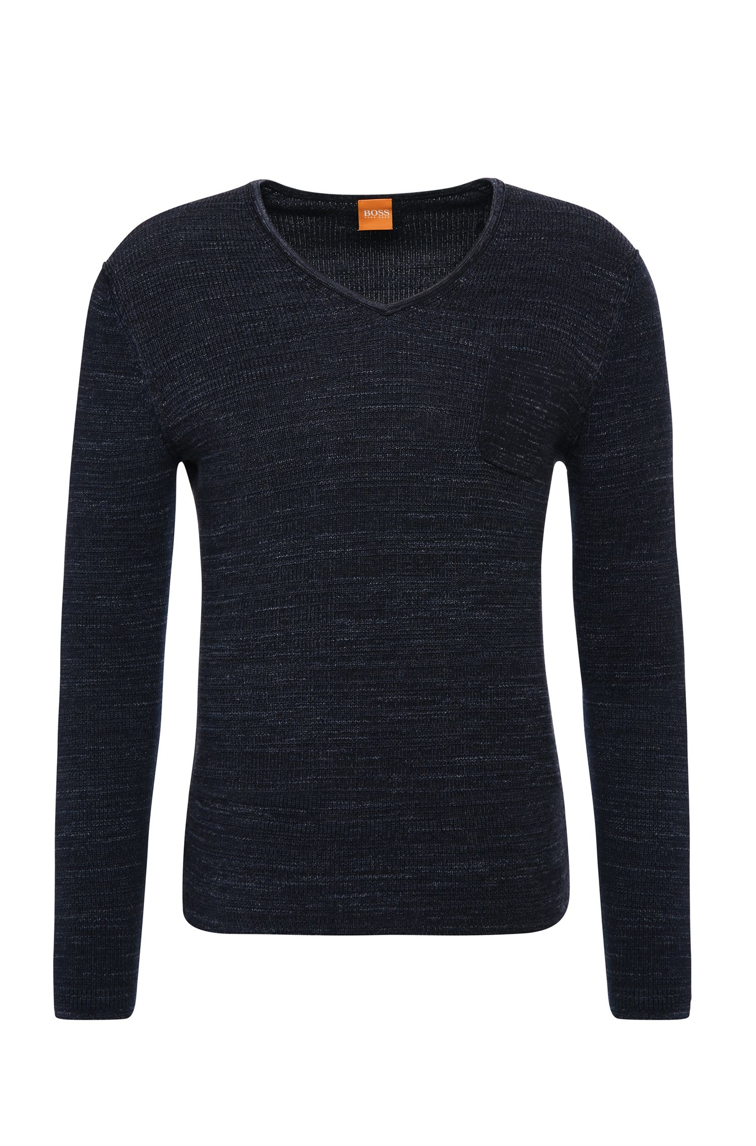 Slim-fit sweater in cotton: 'Akatus'