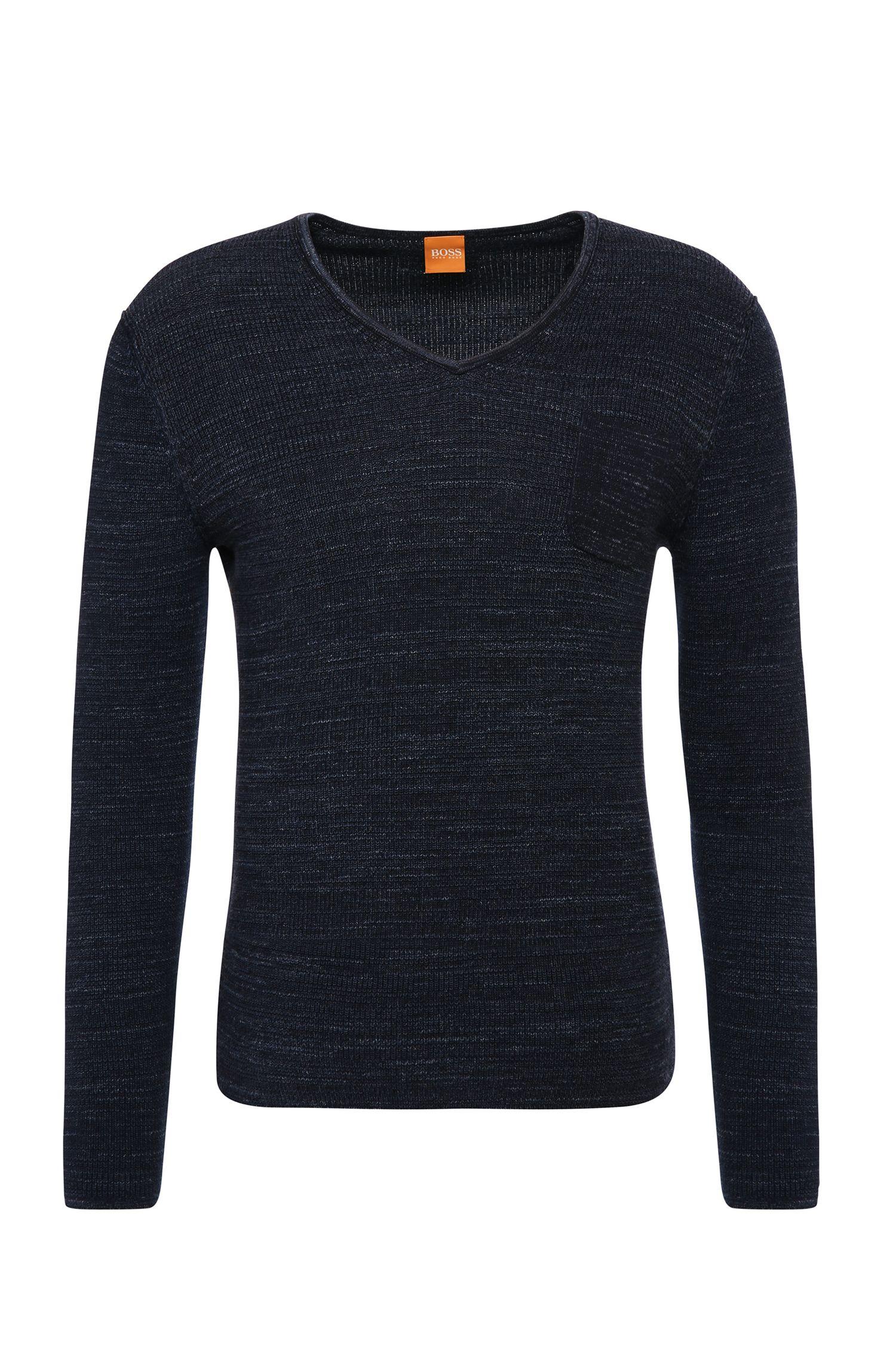 Slim-fit trui van katoen: 'Akatus'