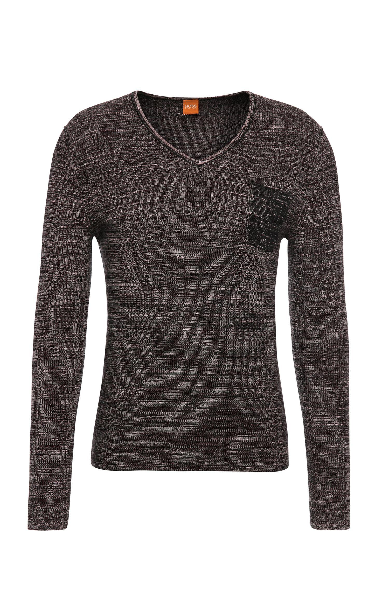 Slim-Fit Pullover aus Baumwolle: ´Akatus`