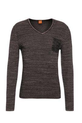 Slim-Fit Pullover aus Baumwolle: ´Akatus`, Hellrosa