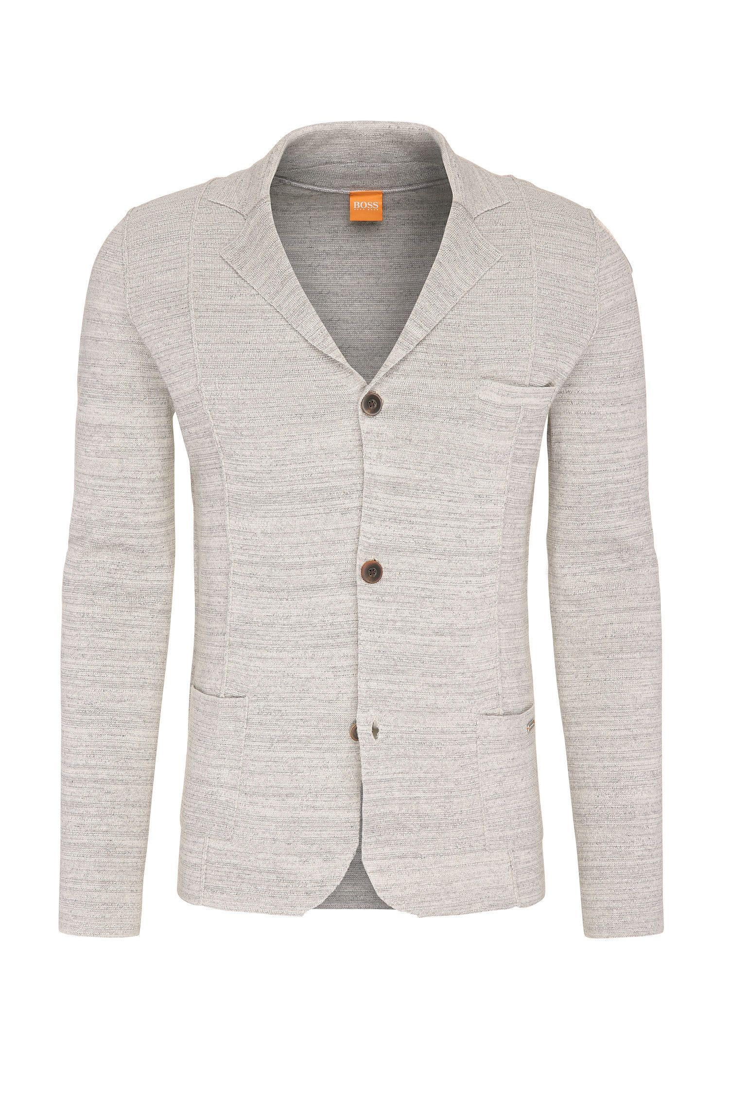 Cardigan mélange in cotone in stile blazer: 'Akuyak'