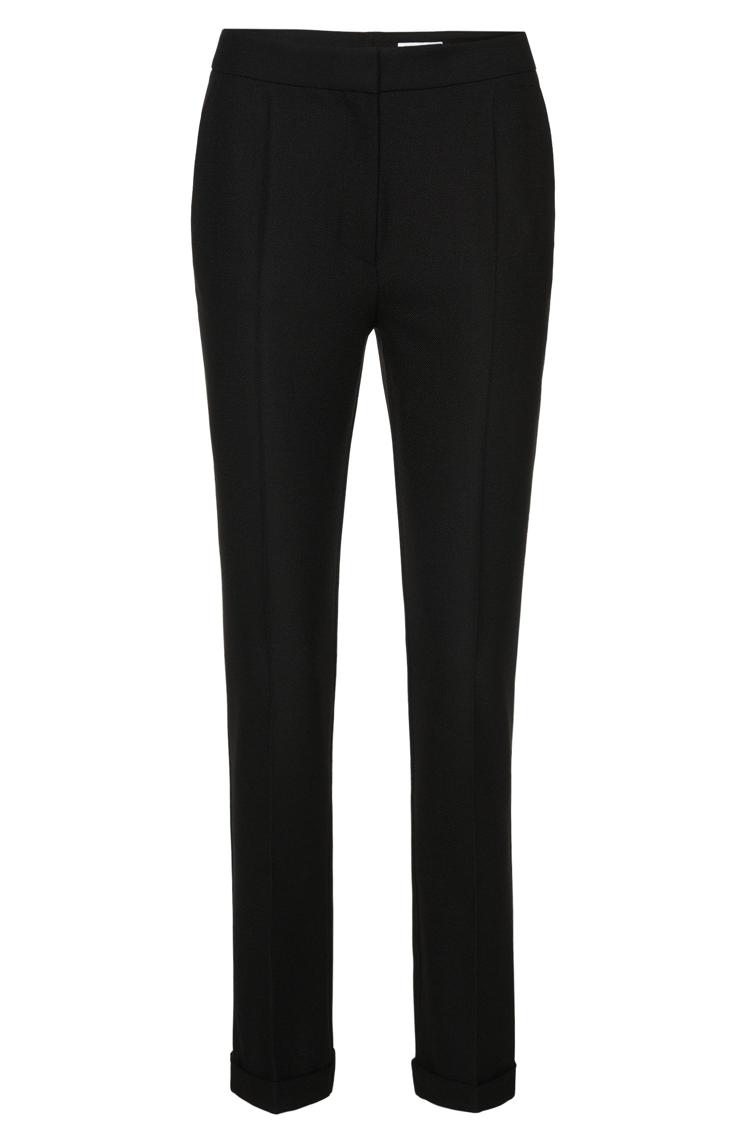 Regular-fit trousers with pressed creases: 'Acnes10'