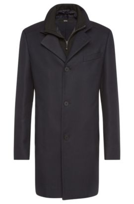 Water-repellent slim-fit coat with a detachable insert: 'Noa', Dark Blue