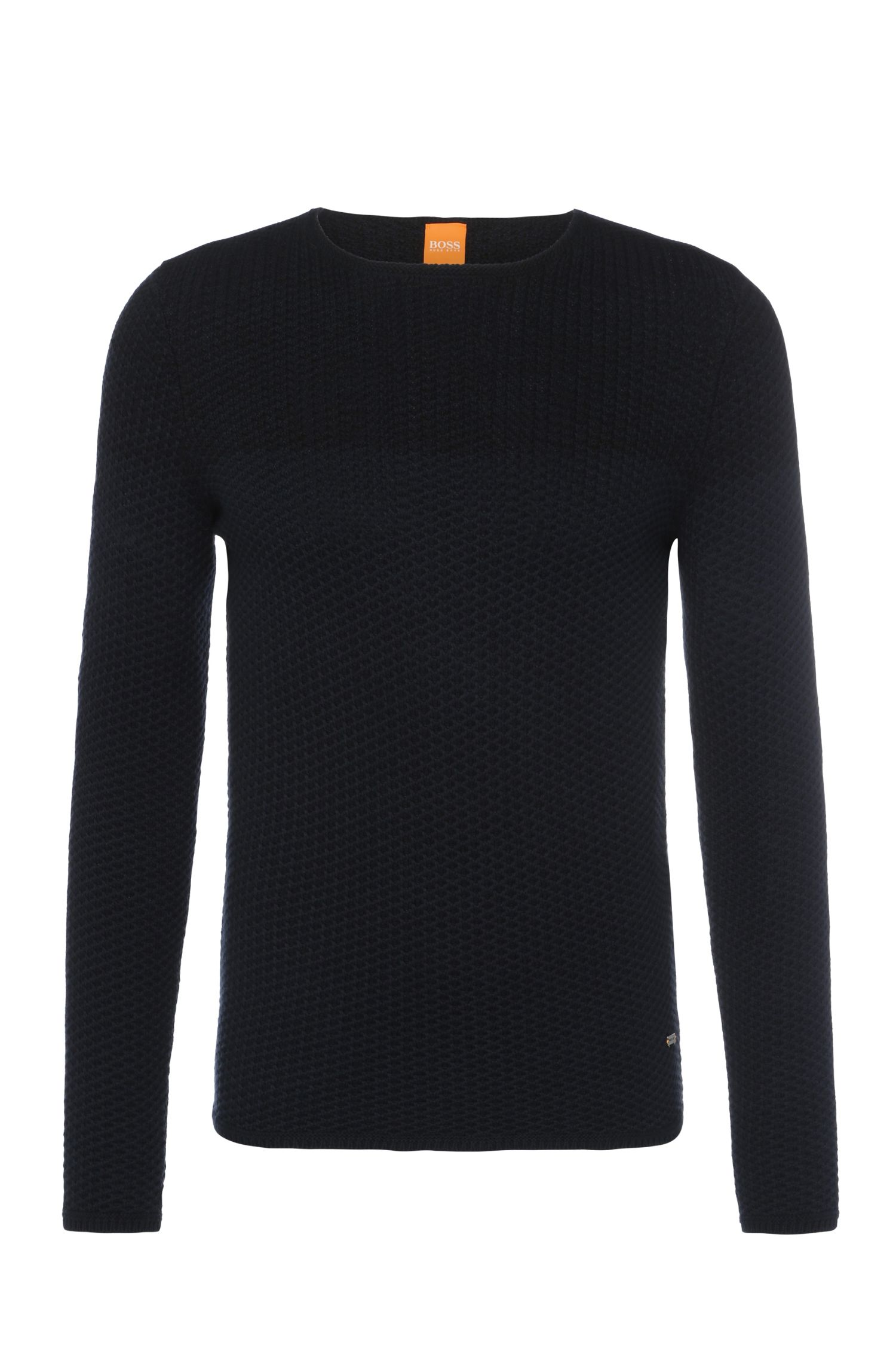 Slim-fit sweater in knitted cotton: 'Kwenys'