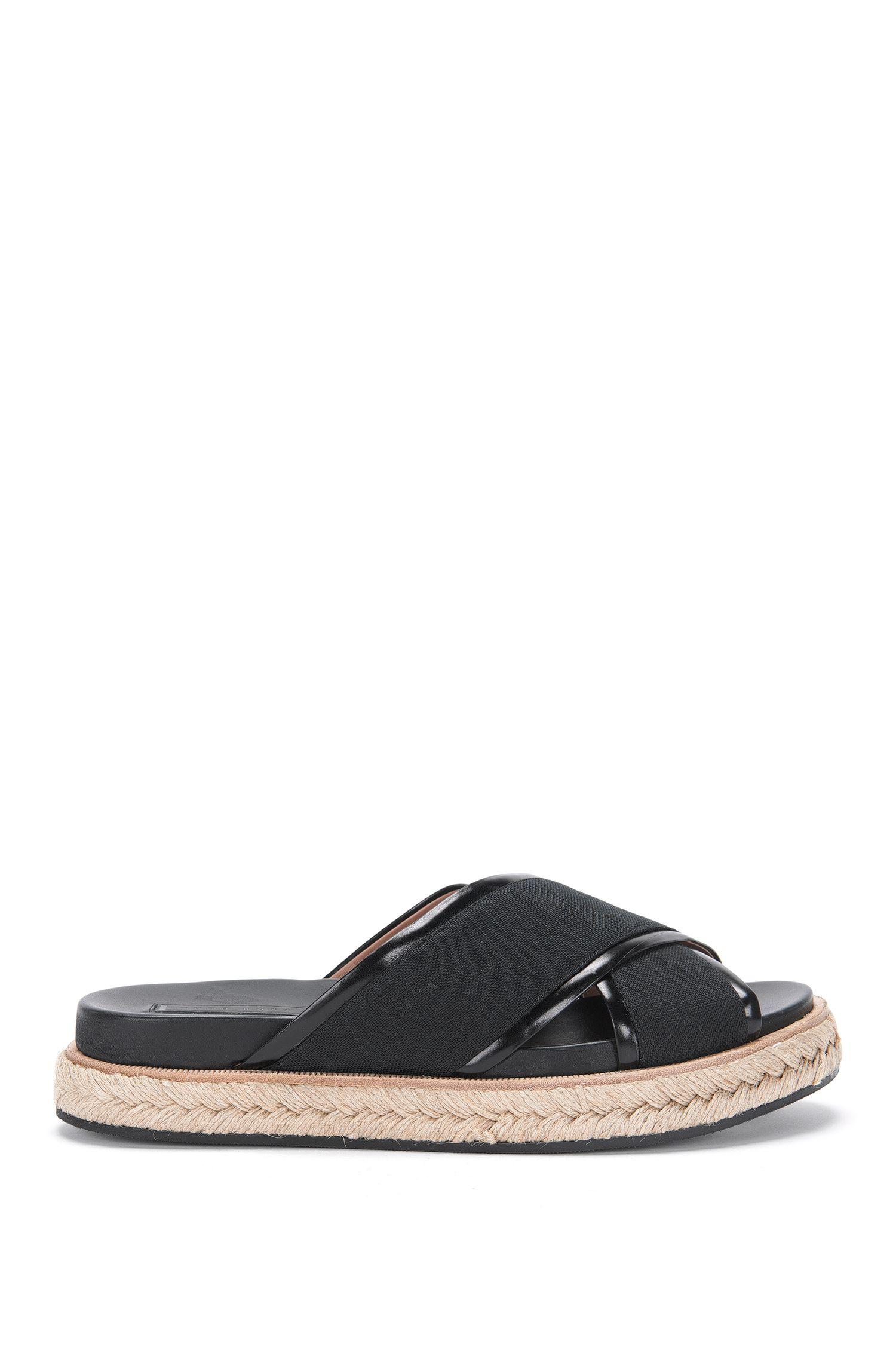 Sandalias de piel y lona: 'Crisscross Sandal LB'